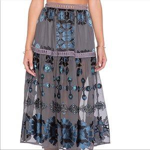 For Love & Lemons Barcelona Midi Skirt